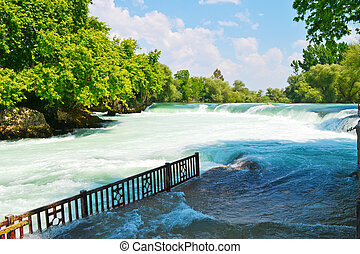 Spring waterfall in Turkey
