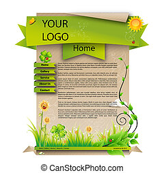 Spring web design template