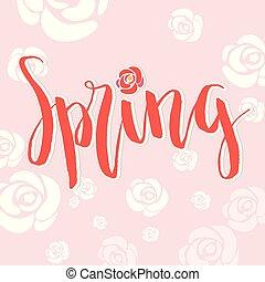 Spring White Rose Pink Background Vector Image