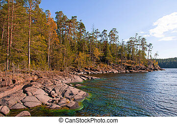 Spring. Wild nature of Russian North. Island of Valaam