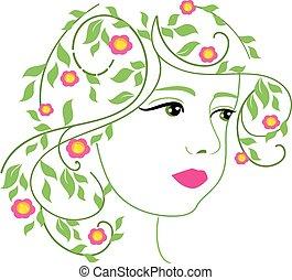 spring woman vector