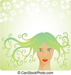 Spring woman