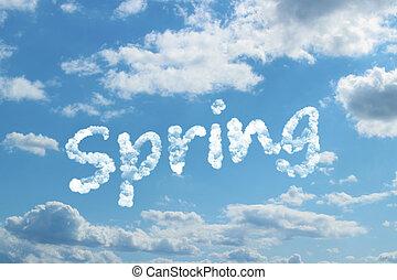 Spring word on cloud