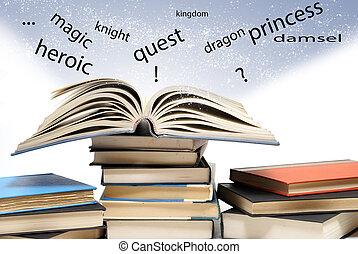 springen ervandoor, pagina, woorden