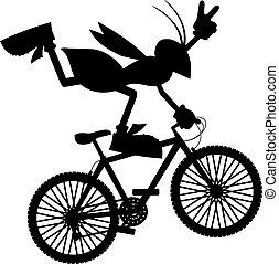 springen, fahrrad