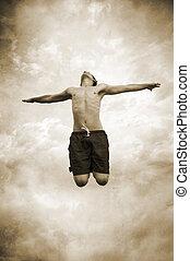 springen, himmelsgewölbe