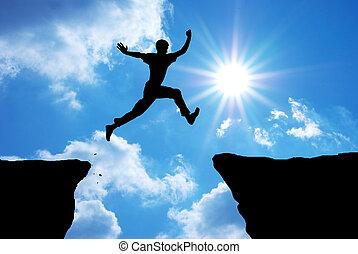 springen, mann