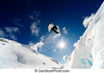 springen, snowboarder