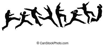 springende , businessteam
