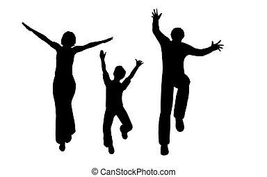 springende , familie
