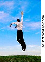 springende , mann