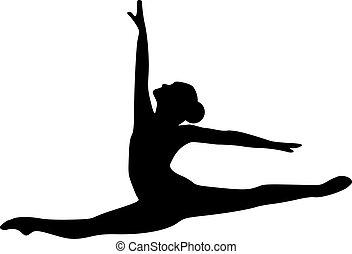 springende , tänzer, ballett