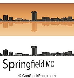 Springfield MO Skyline - Springfield skyline in orange ...