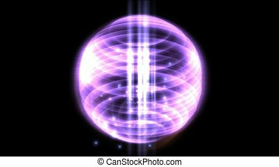 springs light & annulus energy field launch rays light, power tech electron field in darkness space.