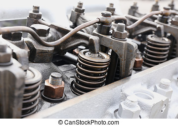 springs on the cylinder head