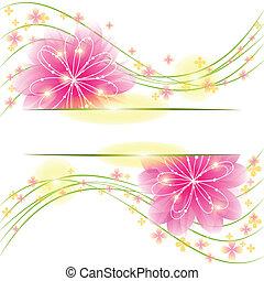 springtime, abstratos, flor, cartão cumprimento