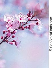 Springtime blooming tree background