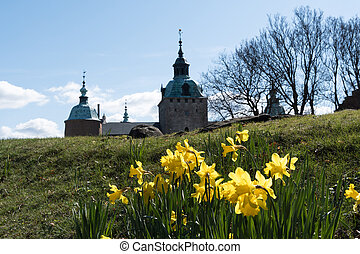 Springtime by the old castle
