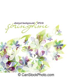 springtime - abstract background - eps10