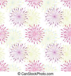 springtime colorful daisy pattern