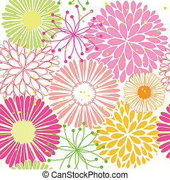 Springtime colorful flower seamless pattern - Abstract...