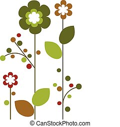 Springtime colorful flowers bloom, abstract design -2 - ...