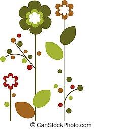 Springtime colorful flowers bloom , vector illustration