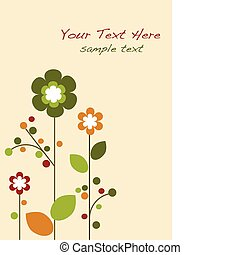 Springtime colorful flowers bloom, template design -1