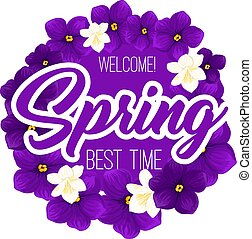 Springtime crocuses flowers vector spring time icon
