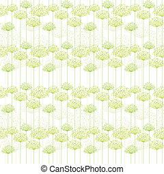 Springtime Dandelion Seamless Pattern Background