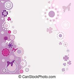 springtime design in purple