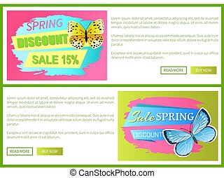 Springtime Discount Spring Sale Labels Butterfly