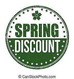 Springtime discount stamp
