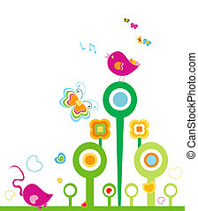 springtime - animals in springtime, design fir kids