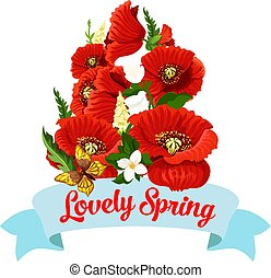 Springtime flowers vector spring time icon
