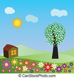 Springtime house