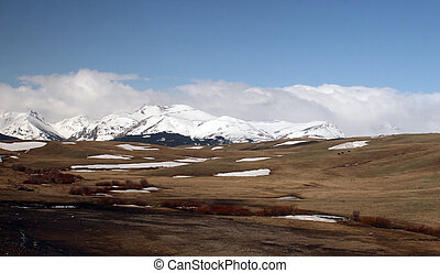 Springtime in Montana - Landscape of Western Montana with...