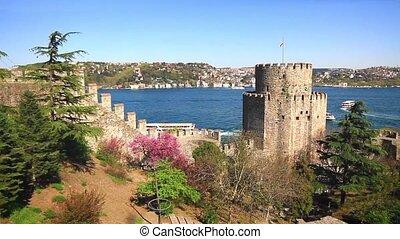 Springtime in Rumelihisari Fortress. Istanbul, Turkey. Istanbul Rumeli Hisari