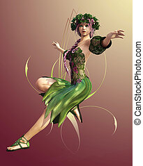 Springtime Maid - a fairylike girl that represented the ...