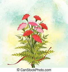 Springtime Red Carnation Flower Bac