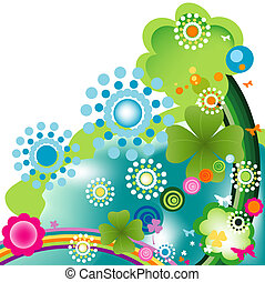 springtime - abstract colorful joyful springtime design