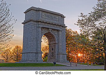 Springtime Sunrise at the National Memorial Arch