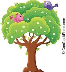 Springtime tree topic image 4 - eps10 vector illustration.