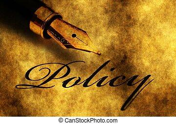 springvand pen, på, politik