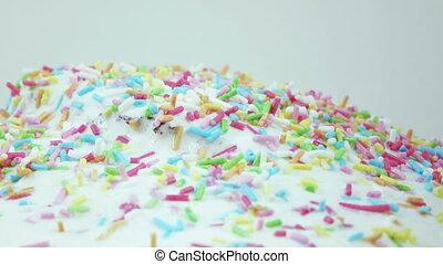 Sprinkle for Easter cakes - Background spinning for Easter...