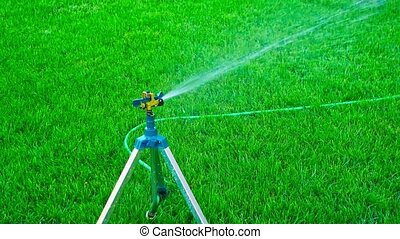 Sprinkler system on tripod