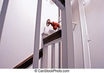 sprinkler valve - focus on sprinkler shut off valve in old...