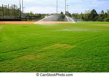 Irrigation on Baseball Field