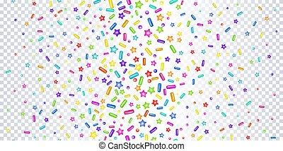 Sprinkles grainy on a transparent background