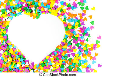 Sprinkles - Heart Frame made of little colorful sprinkles...